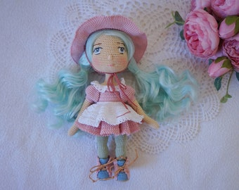 crocheted doll with outfit / beautiful doll set handmade