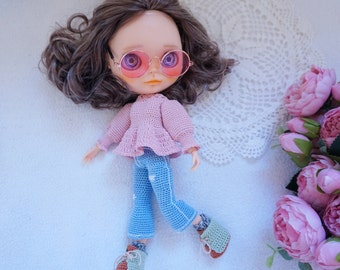 Blythe doll joints body outfit crochet pattern ( not include Hat crochet )