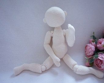 Doll joints body crochet pattern ( not include hair and face embroidered )