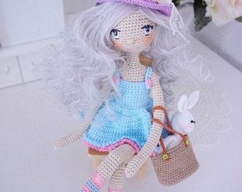 Pretty doll with outfit crochet pattern / doll set crochet pattern