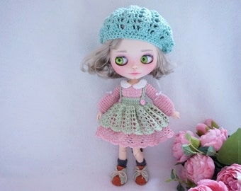 Blythe doll joints body outfit crochet pattern ( include all shown in photo)