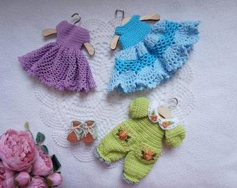 Blythe  dress and jumpsuit crochet pattern / crochet patter set