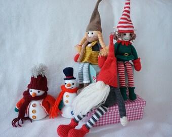 Christmas home decoration set crochet pattern