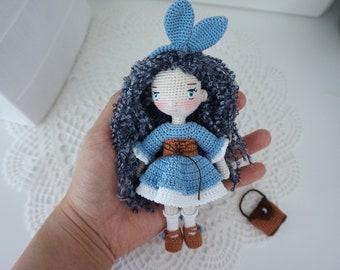 Bunny girl crochet pattern / Little doll crochet pattern