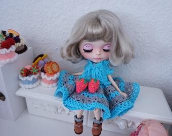 Blythe clothes  crochet / Bolero and lace dress  * Ready to ship *