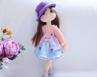 Doll with outfit crochet