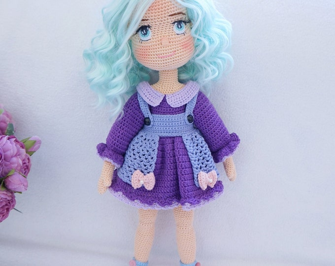 Featured listing image: Crocheted doll with outfit / doll handmade ( Ready to ship )