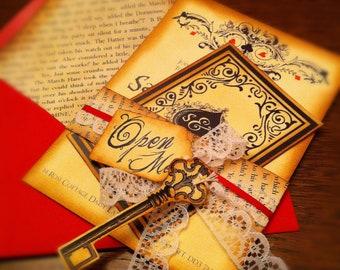 Alice In Wonderland Inspired Wedding Invitation Etsy