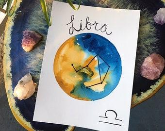 Libra Constellation Wall Art