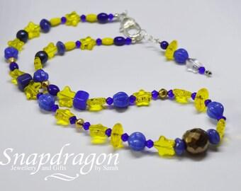 Preciosa Czech glass starry night necklace