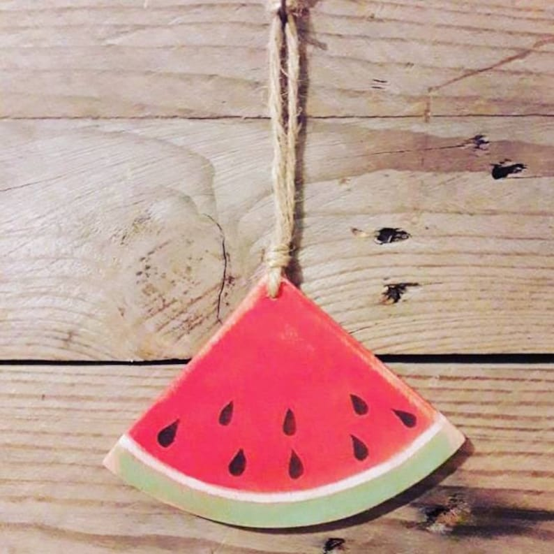 Watermelon Decor Interior Decor Wall Hangings Birthdays Ideas Christmas Gifts Stocking Fillers Wooden Bunting Kitchen Decor
