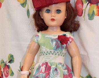 """Pair of pearl Doll Earrings for 14/""""-18/"""" Revlon Doll"""