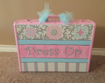 Dress Up Suitcase, Dress Up Trunk, Costume Trunk, Storage, Personalized  EXTRA LARGE Size