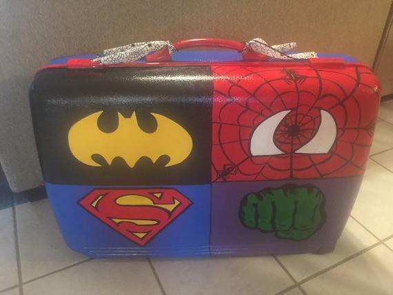 Superhero Case Painted Costum Storage Toy Storage Boys | Etsy