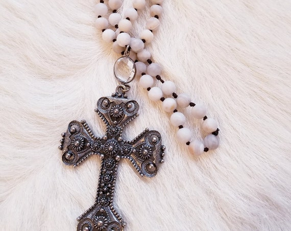 40% OFF!!  Beaded Layering Cross Pendant Necklace