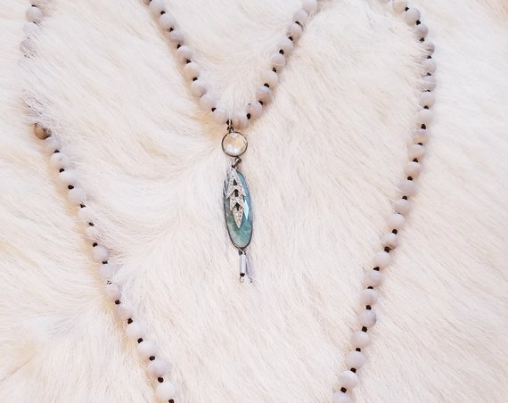 Beaded Layering Charm Pendant Necklace