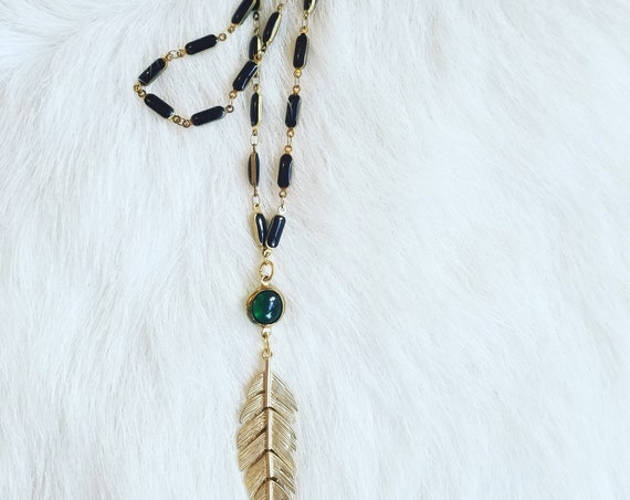 Layering Feather Necklace