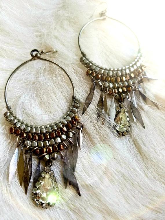 Repurposed Hoop Earrings