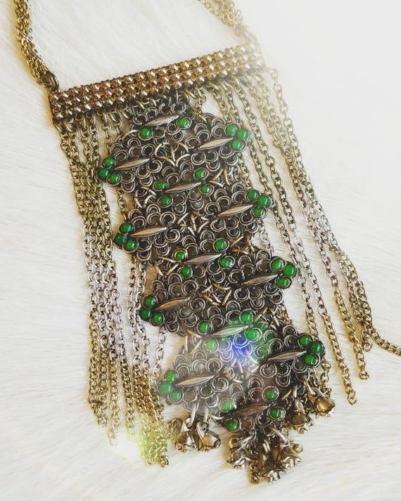 SOLD! Vintage Gypsy Fringe Necklace