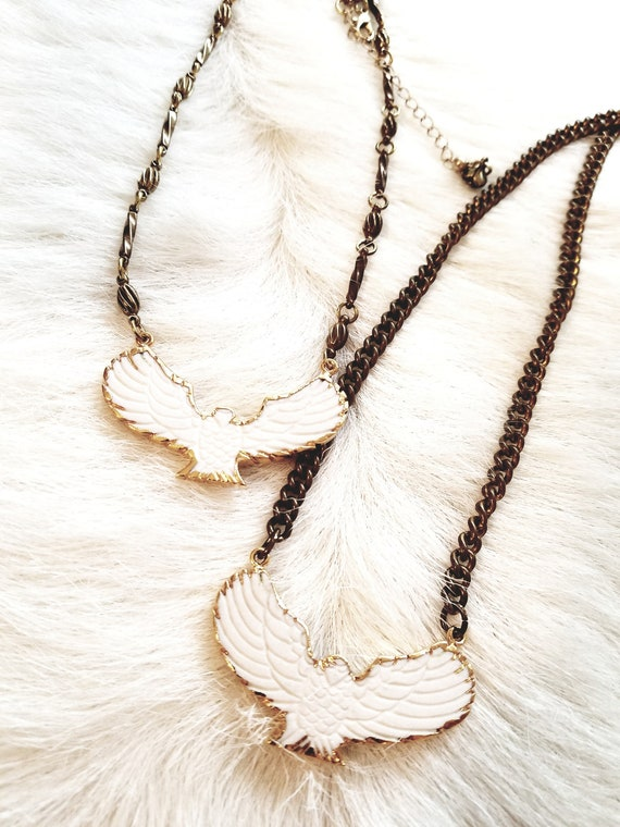 ONLY ONE LEFT! Carved Eagle Choker