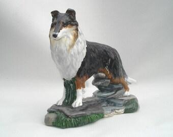Rough Collie Tri-color Figurine Lassie Dog Figure Herding New Collectible