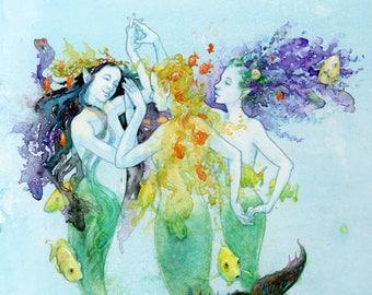 Three Graces Under the Sea - Archival Print