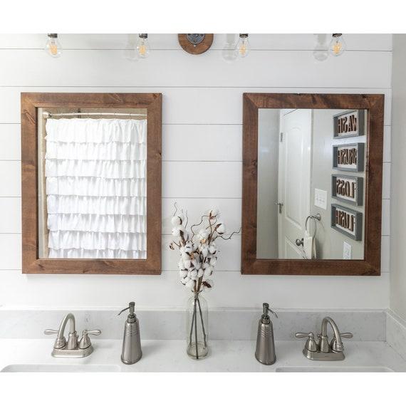 Bathroom Mirrors.Set Of 2 Farmhouse Bathroom Mirrors 24 X 31 Etsy