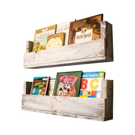 Nursery Bookshelves 28 Inch Set Of 2 Whitewash
