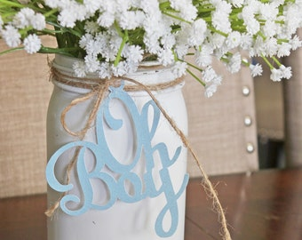 Mason Jar Centerpieces Baby Shower Etsy
