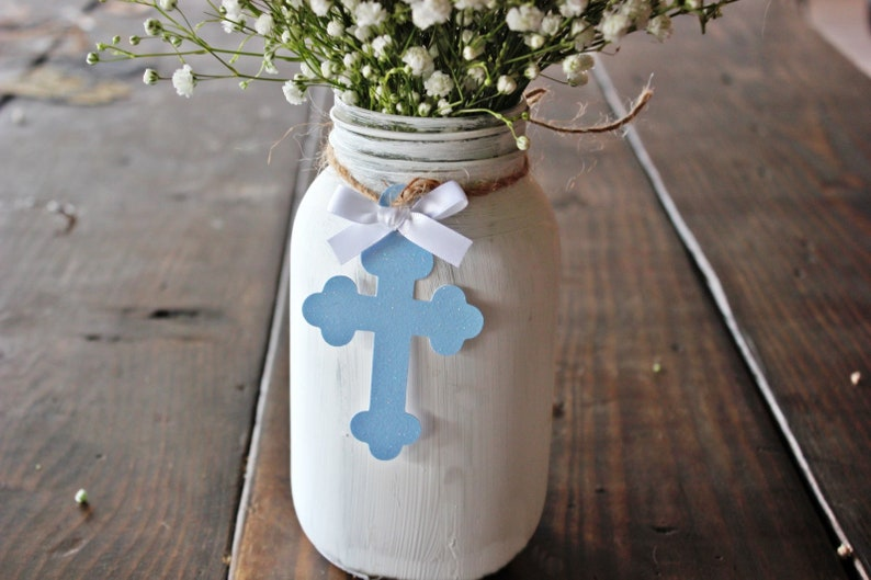 Baby Boy Baptism Decorations Rustic Christening Cross Etsy