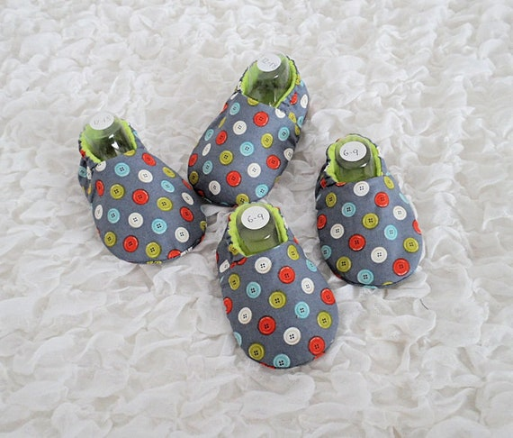 Grey Baby Shoes Pram Shoes Gift for