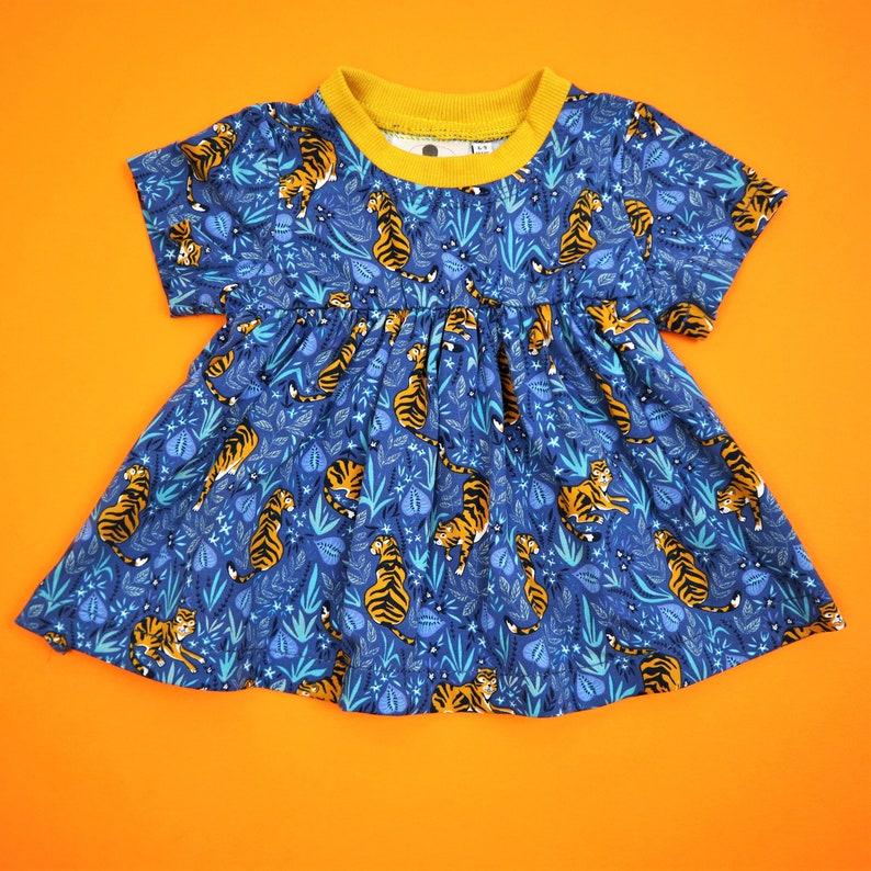 Tiger Print Children/'s Dress