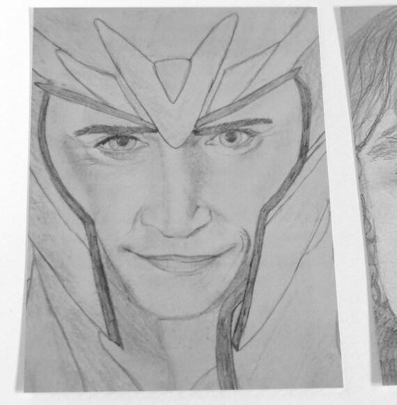 Artículos Similares A Loki Lámina Retrato A Lápiz Avengers Thor