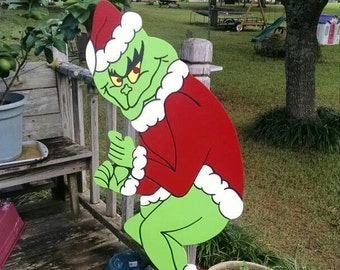 127 drop date grinch yard art decorations grinch stealing christmas lights yard art christmas yard decoration outdoor