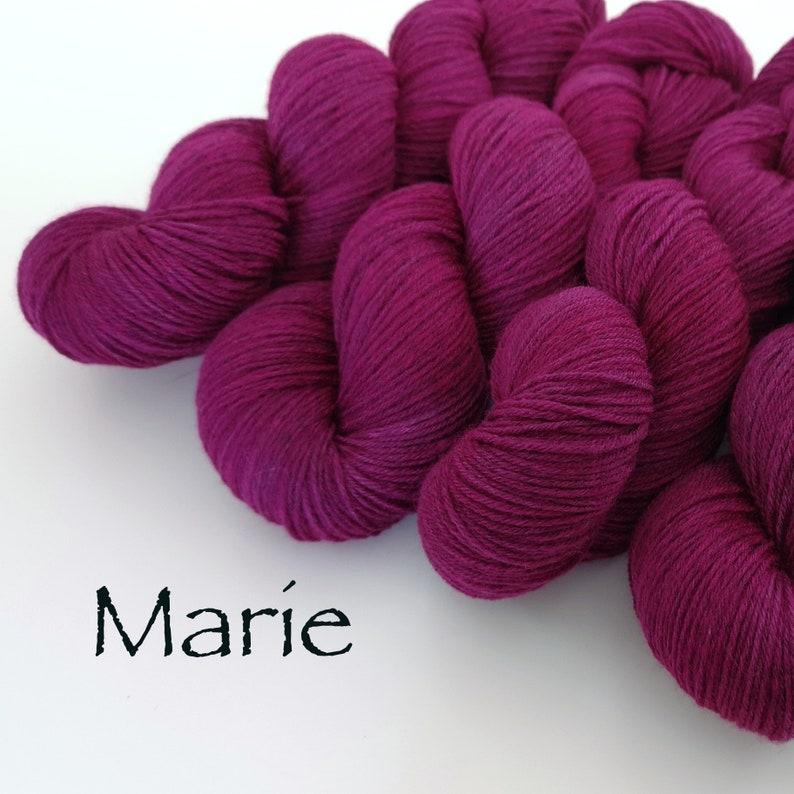 Marie on Sock Noir fully traceable Corriedale/Polwarth wool  image 0