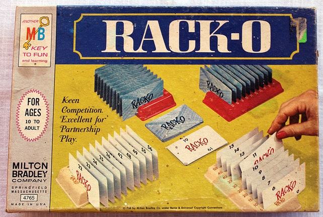 1961 Rack O Card Game Etsy