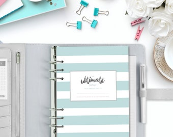 HOUSEHOLD PLANNER - The Ultimate Printable Planner - Everything in One - 3 Sizes - Instant Download with Cover & Tabs - 100+ printable pages