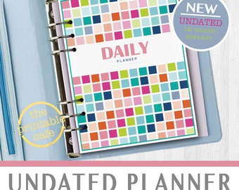 UNDATED Daily Planner - Life Organizer - Digital, Printable - INSTANT DOWNLOAD - Monthly Calendar, Weekly Spread, Daily Schedule & much more