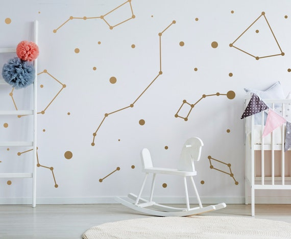 Unique Wall Decor Kids Decor Modern Wall Decals Star Wall Stickers Kids room Decals ga41 Star Decals Constellation Wall Decals