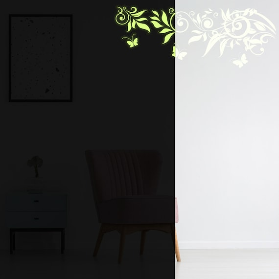 Glow in Dark Wall Sticker Branch Decal Light Glowing Luminous Fluorescent Banksy
