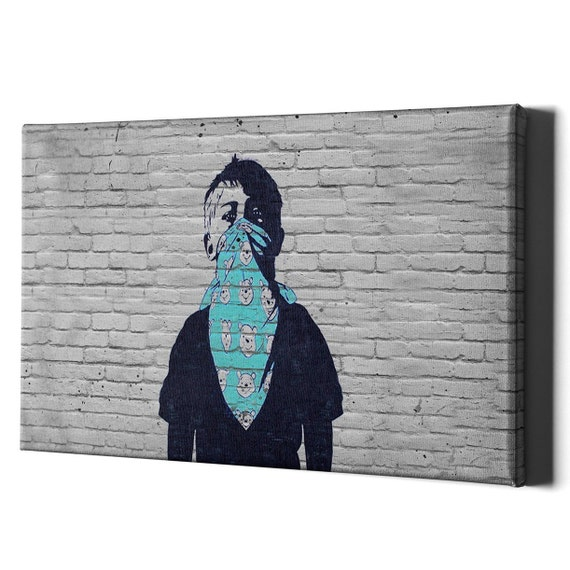 """Rainbow Gorilla wall art colorful printed on canvas 30/"""" x  30/'/' solid frame"""