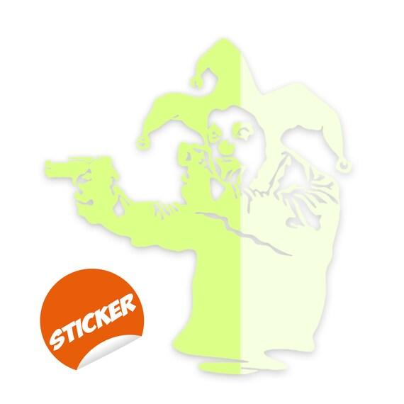 Joker Jester Green Decal Sticker Decals Stickers Vehicle die Cut sticker Green
