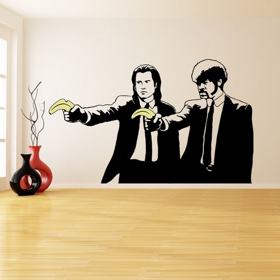 Banksy Vinyl Wall Decal Pulp Fiction Graffiti Guys with