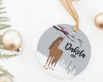 Horse Ornament, Personalized Horse Ornament, Horse Christmas Ornament, Horse Ornament, Gift for Horse Lover, Horse Memorial, Horse Gift