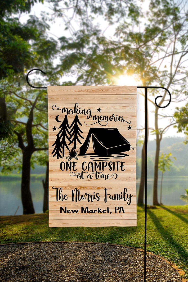 Personalized Tent Camping Flag