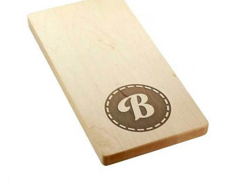 Stitch Monogram Wooden Bread Board