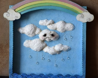 Wonderland in Clouds - unique piece sculpture