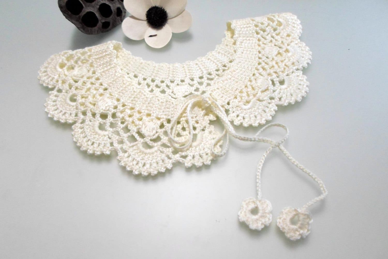 Crochet Pattern Lace Collar Pattern Peter Pan Collar Pdf Pdf Etsy