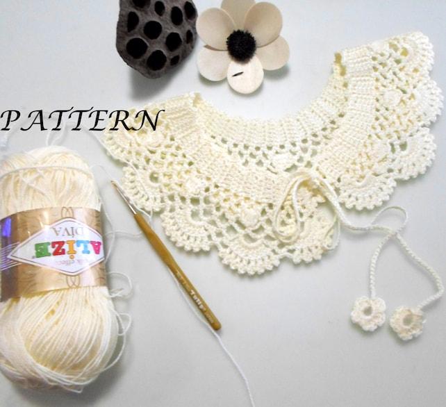Crochet pattern gift woman crochet necklace patterns pdf | Etsy
