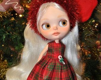 Vestido de Navidad para Blythe
